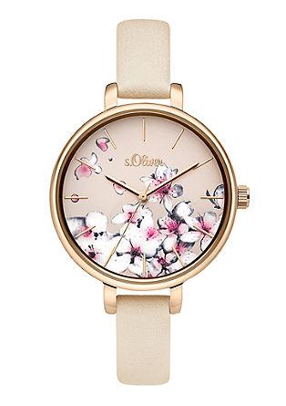 Armbanduhr im floralen Design
