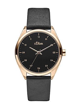 Armbanduhr mit Lederband