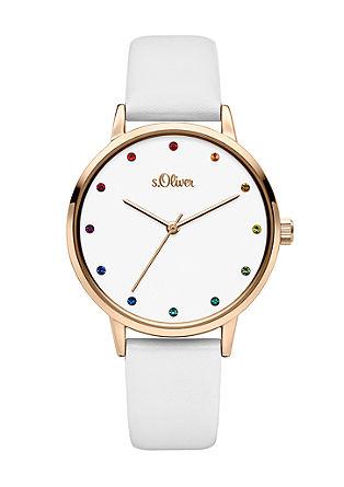 Horloge met kleurrijke steentjes
