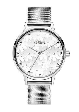 Horloge met bloemenmotief