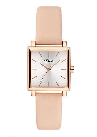 Uhr mit Armband im Leder-Look