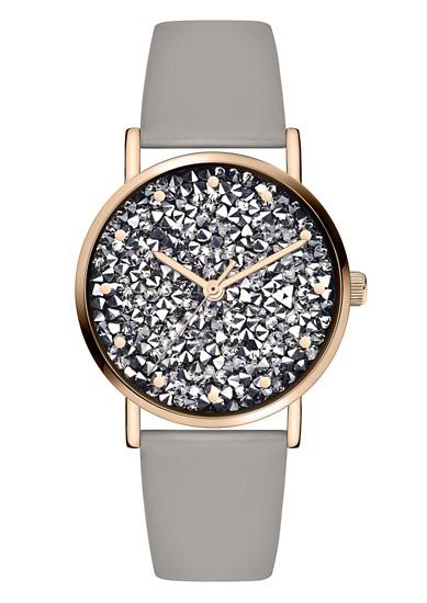 Armbanduhr mit Glitzer-Zifferblatt