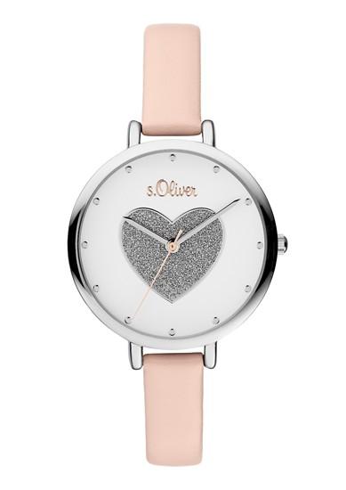 Armbanduhr mit Glitzer-Herz