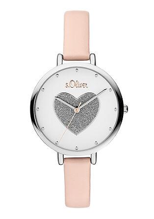 Horloge met glinsterend hart