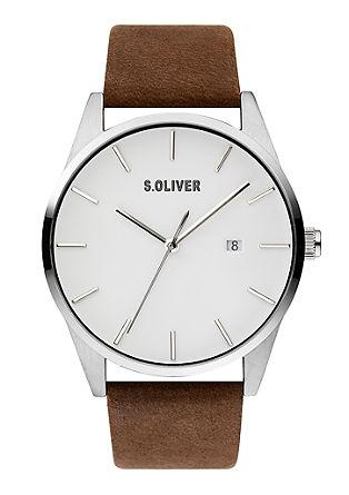Horloge met bandje in leerlook