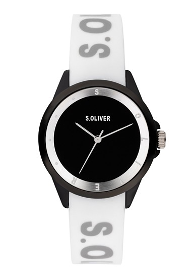 Logo-Uhr mit Silikonband