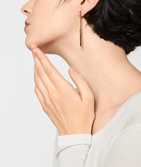 Pendelstab Ohrringe aus Edelstahl