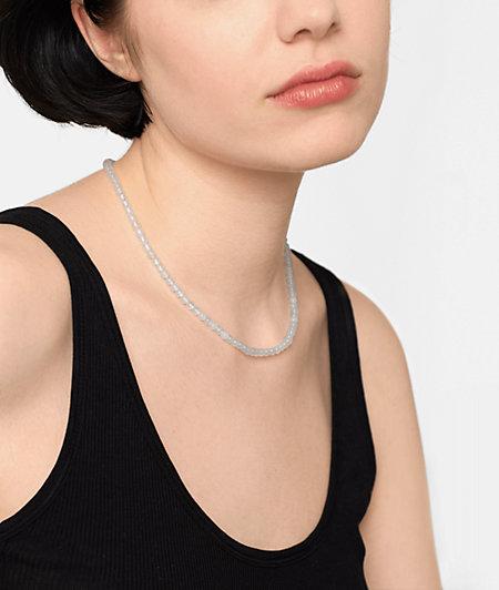 4mm Beads Perlenkette aus weißen Jade Halbedelsteinen