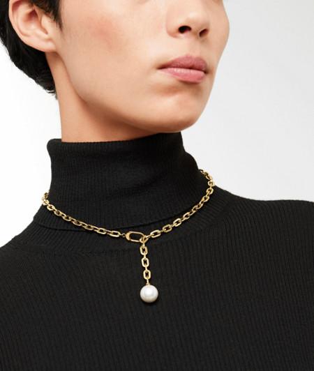 Y-Kette mit Perlenanhänger