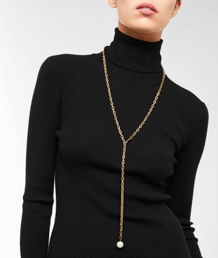 Lange Y-Kette mit Perlenhänger