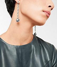 Ohrringe mit Stahlkugelanhänger