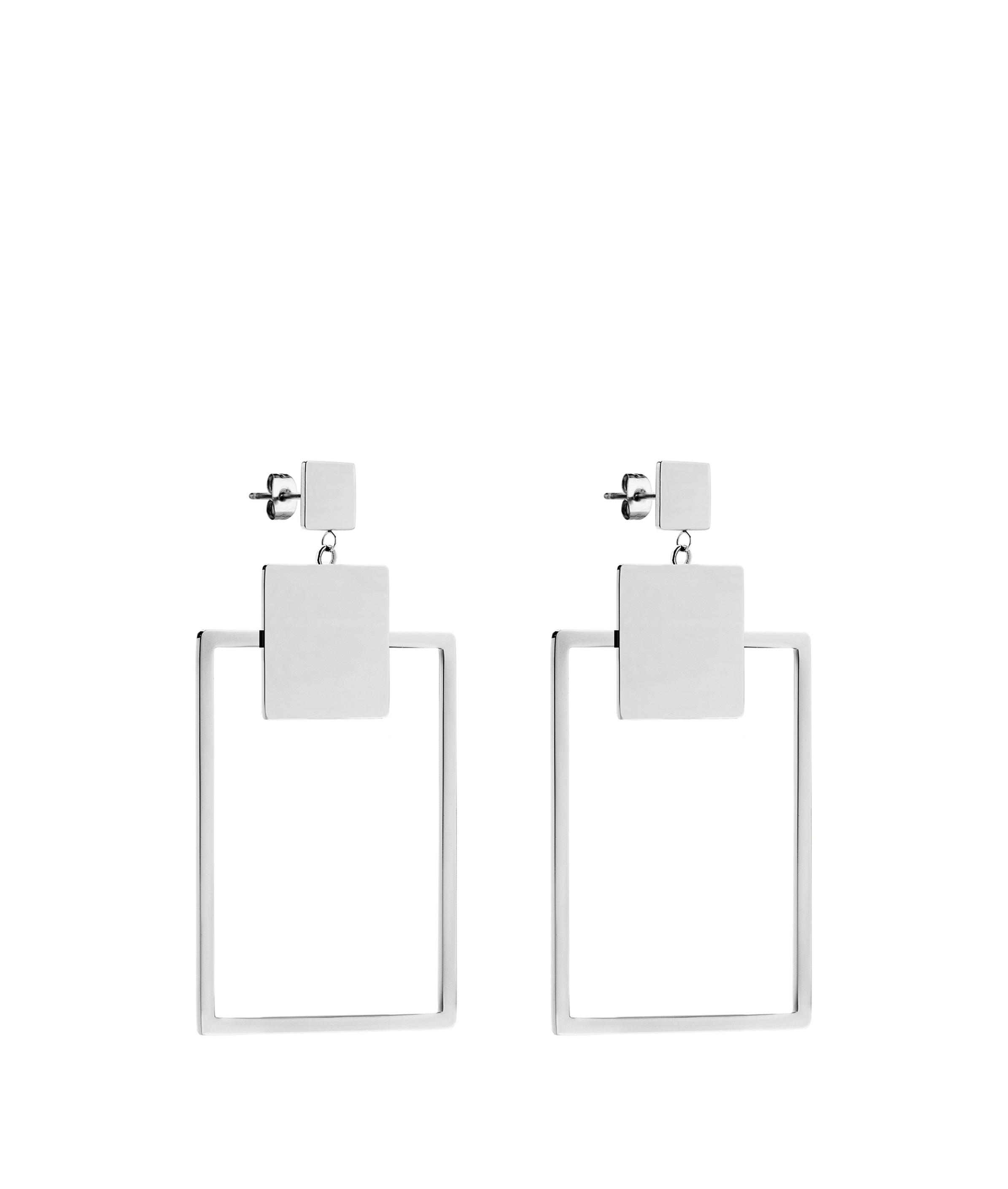 liebeskind berlin - Ohrringe in geometrischem Design, Grau/Schwarz, Größe -