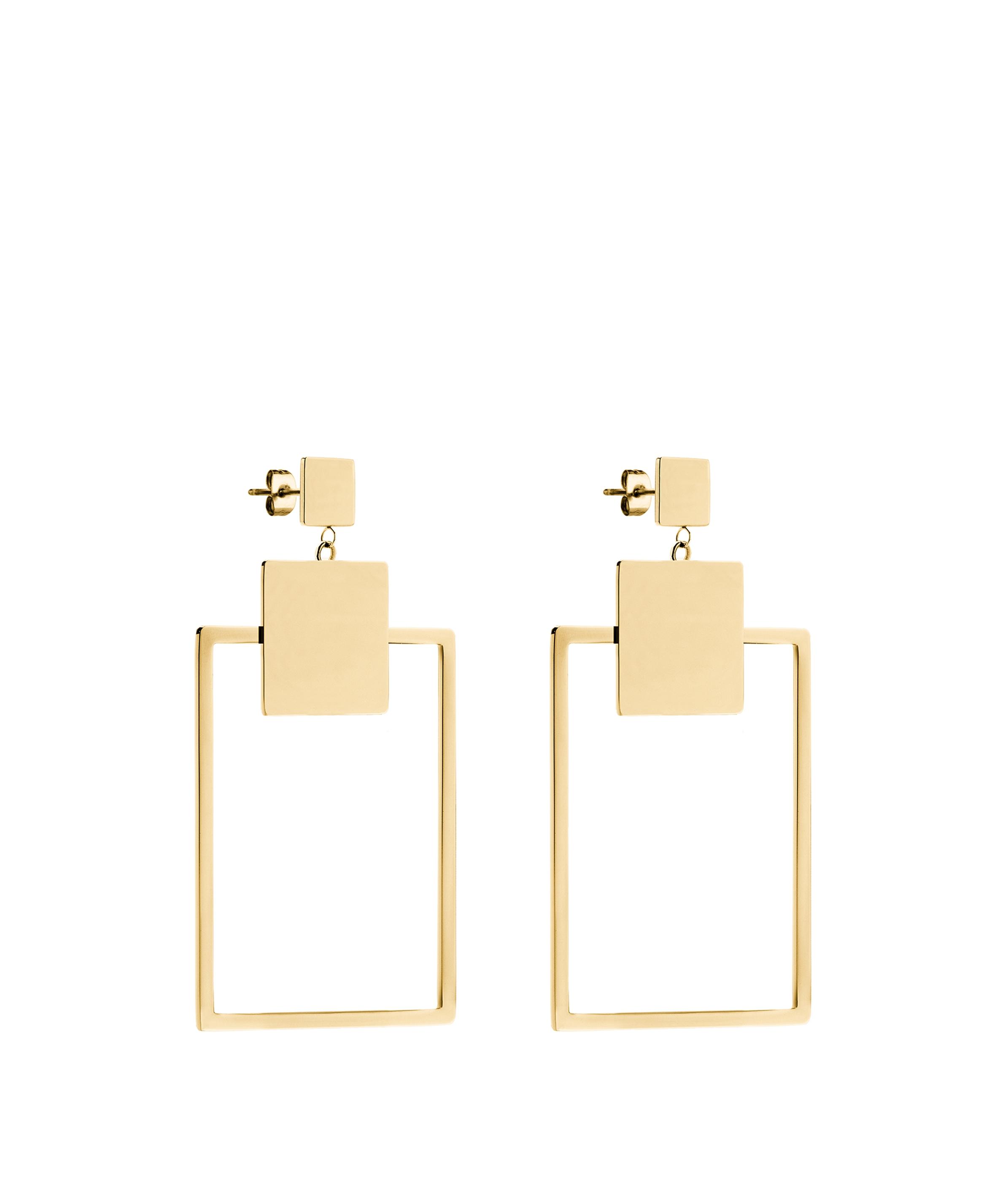 liebeskind berlin - Ohrringe in geometrischem Design, Gelb, Größe -