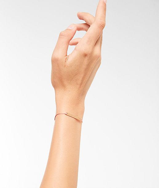 Armband mit gravierter Plakette