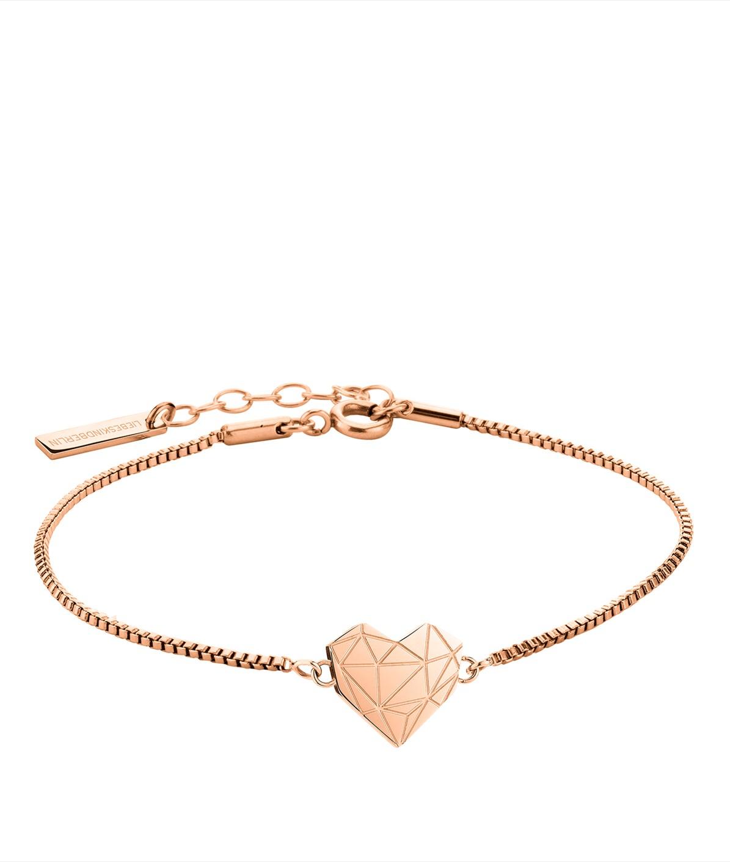 Armband mit Anhänger in Herzform