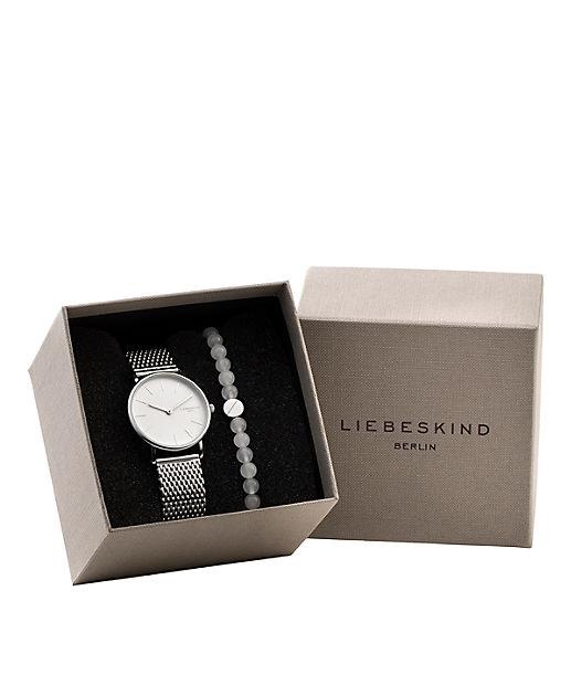 Geschenkset aus Armbanduhr und Armband