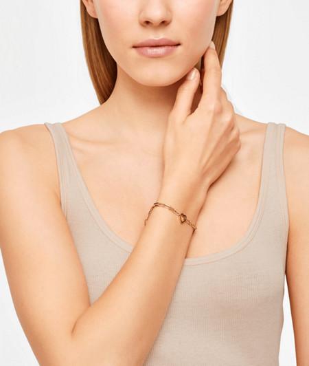 Massives Armband mit Herzanhänger