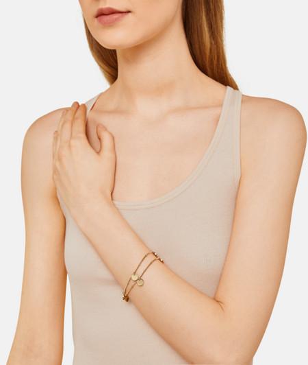 Bracelet mit spiegelnden Plättchen