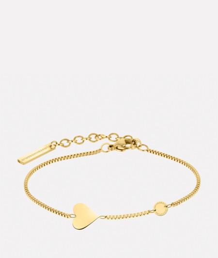 Armband mit Herz- und Coin-Anhänger