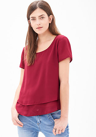 Chiffon blouse with layering from s.Oliver