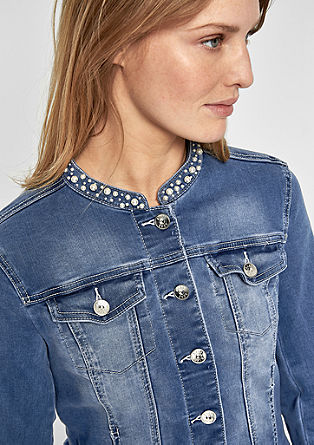 Denim jacket with decorative beads from s.Oliver