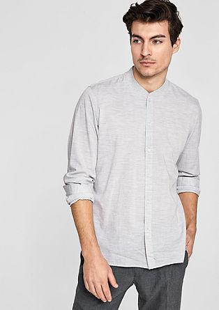 Slim: Leichtes Hemd mit Stehkragen