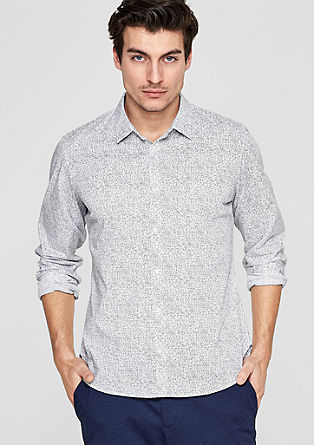 Slim: Stretch shirt with an all-over print from s.Oliver