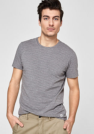 Striped T-shirt with a round neckline from s.Oliver