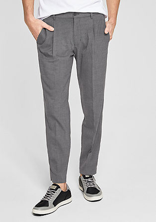 Business trousers with a woven texture from s.Oliver