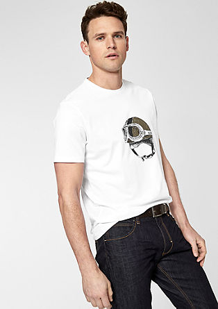 Crew Neck-Shirt mit Illustration