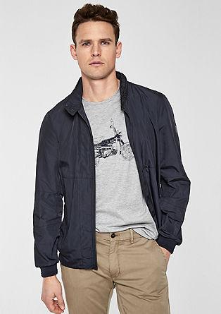 Bluzonová bunda sžebrovým lemem