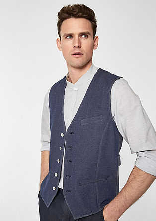 Waistcoat with a contrast back from s.Oliver