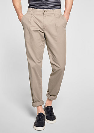 chinos with a textured pattern from s.Oliver