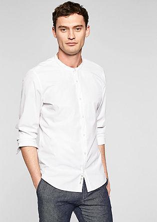 Modern fit: gestructureerd overhemd met opstaande kraag