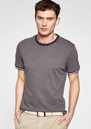 Kratka majica s črtasto obrobo