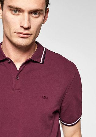 Poloshirt met gestreepte details