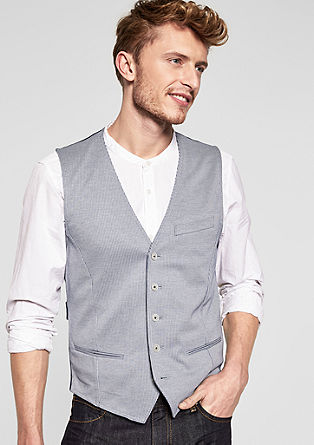 Blended fabric waistcoat from s.Oliver