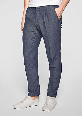 Blended linen trousers from s.Oliver