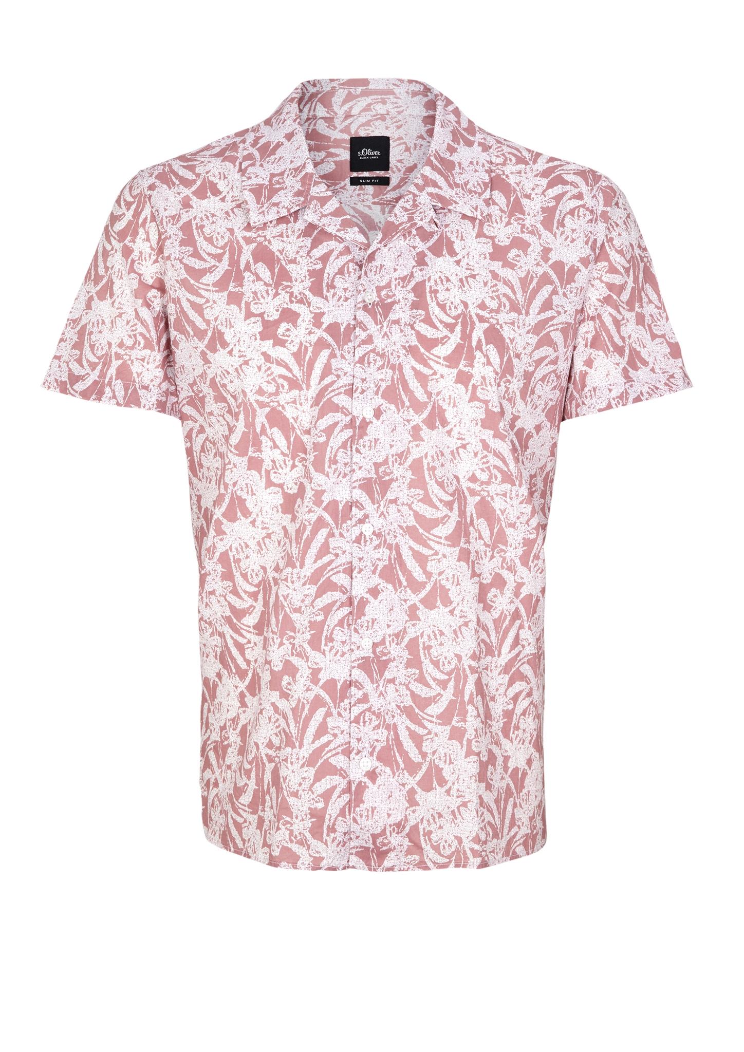 Hawaiihemd | Bekleidung > Hemden > Hawaiihemden | Pink | 100% baumwolle | s.Oliver BLACK LABEL