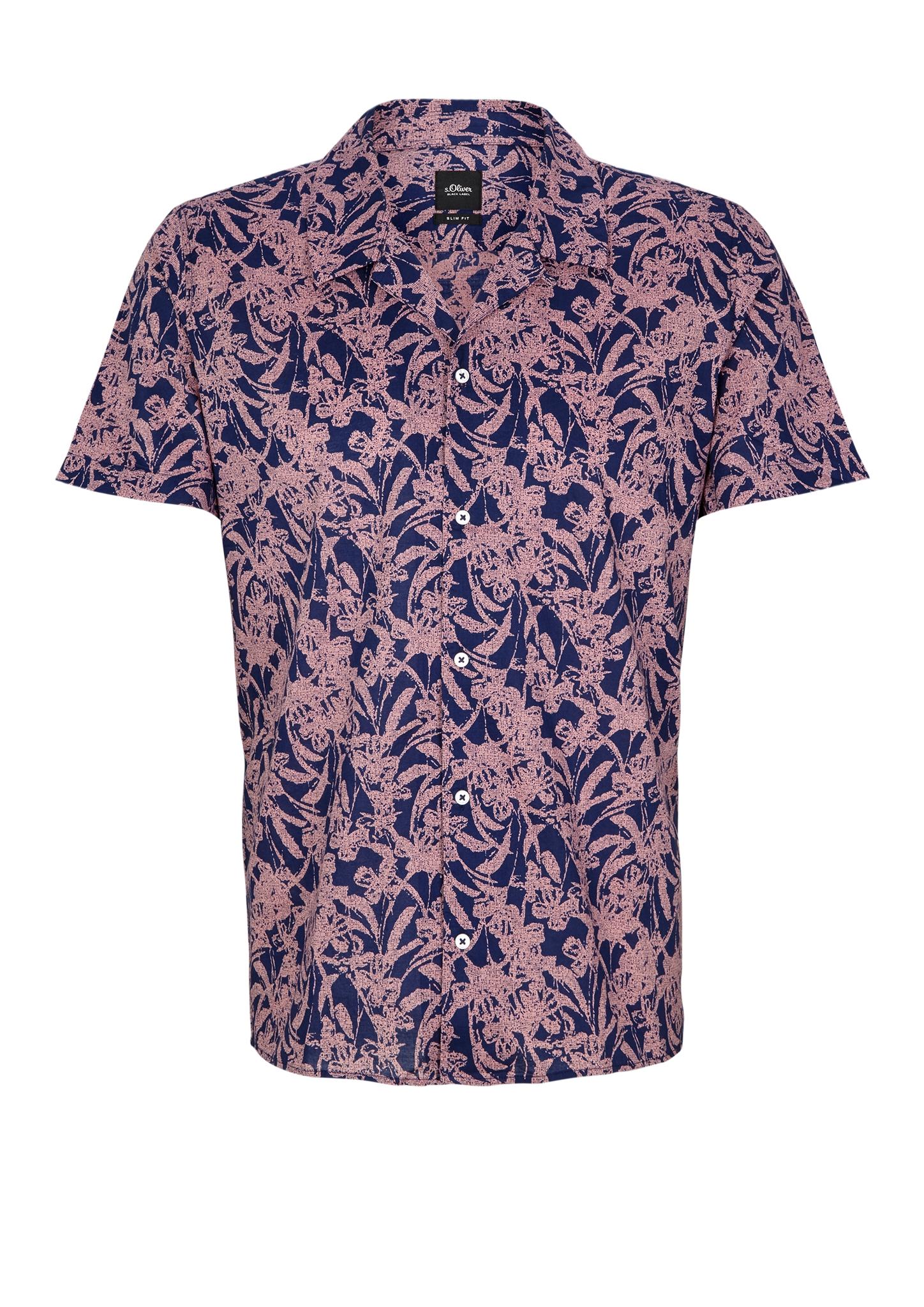 Hawaiihemd | Bekleidung > Hemden > Hawaiihemden | Blau | 100% baumwolle | s.Oliver BLACK LABEL