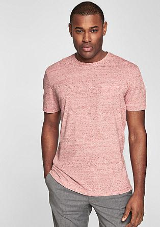 Melange slub yarn T-shirt from s.Oliver