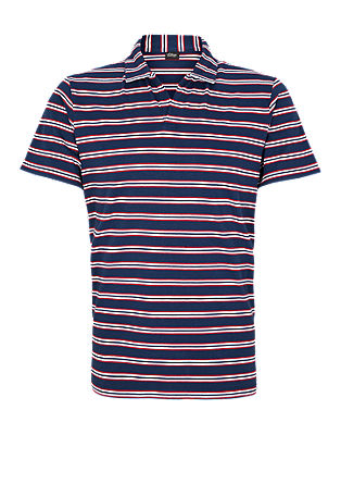 Polo shirt with a striped print from s.Oliver