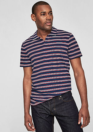 Poloshirt mit Streifenprint