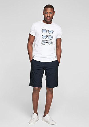 Frederico Slim: textured Bermudas from s.Oliver
