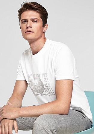 T-shirt met voetbalprint