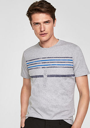 Shirt mit Fußball-Print