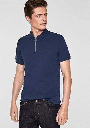 Poloshirt mit Zipper