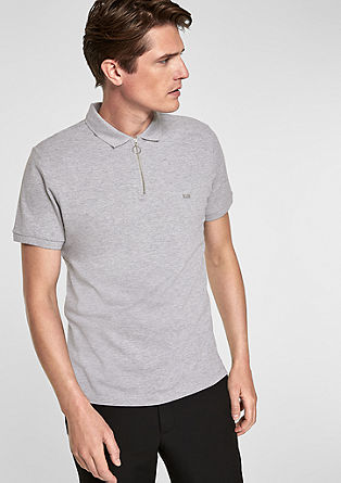 Polo shirt with a zip from s.Oliver