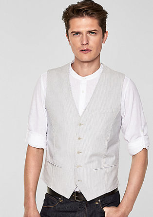 Casual waistcoat with pinstripes from s.Oliver