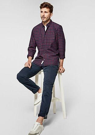 Slim: geruit overhemd met lange mouwen